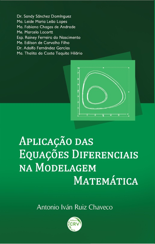 Capa do livro: APLICAÇÃO DAS EQUAÇÕES DIFERENCIAIS NA MODELAGEM MATEMÁTICA