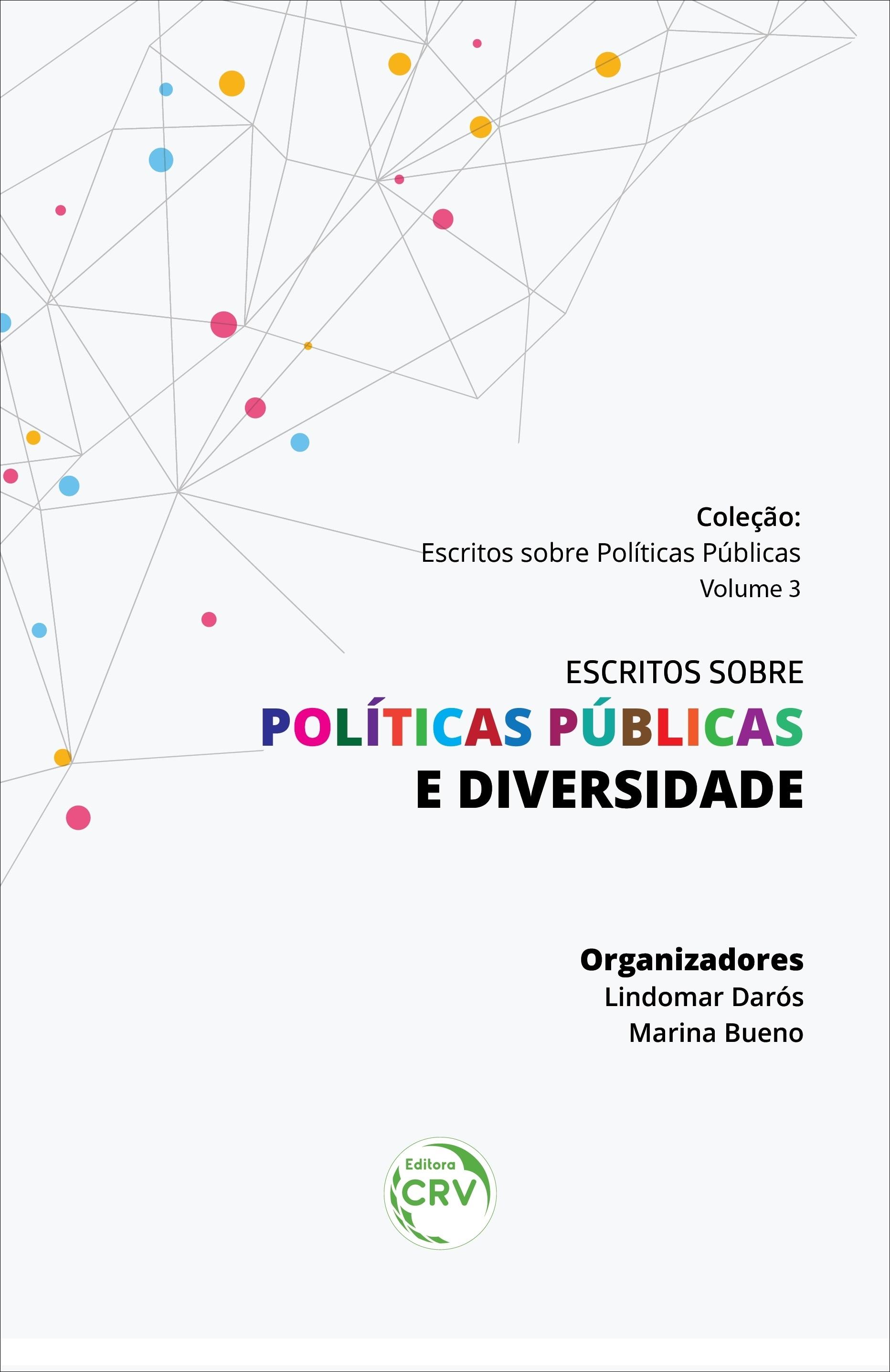 Capa do livro: ESCRITOS SOBRE POLÍTICAS PÚBLICAS E DIVERSIDADE