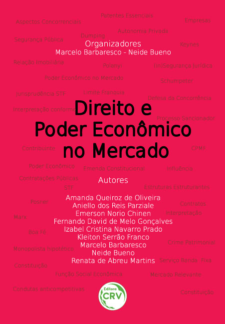 Capa do livro: DIREITO E PODER ECONÔMICO NO MERCADO