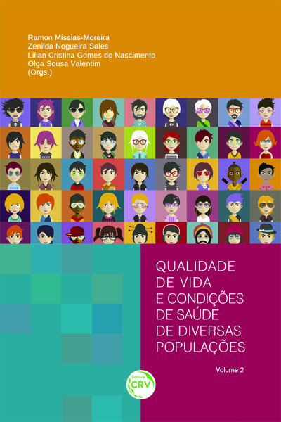 Capa do livro: QUALIDADE DE VIDA E CONDIÇÕES DE SAÚDE DE DIVERSAS POPULAÇÕES – VOLUME 2