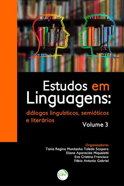Capa do livro: ESTUDO EM LINGUAGENS:<br> diálogos linguísticos, semióticos e literários