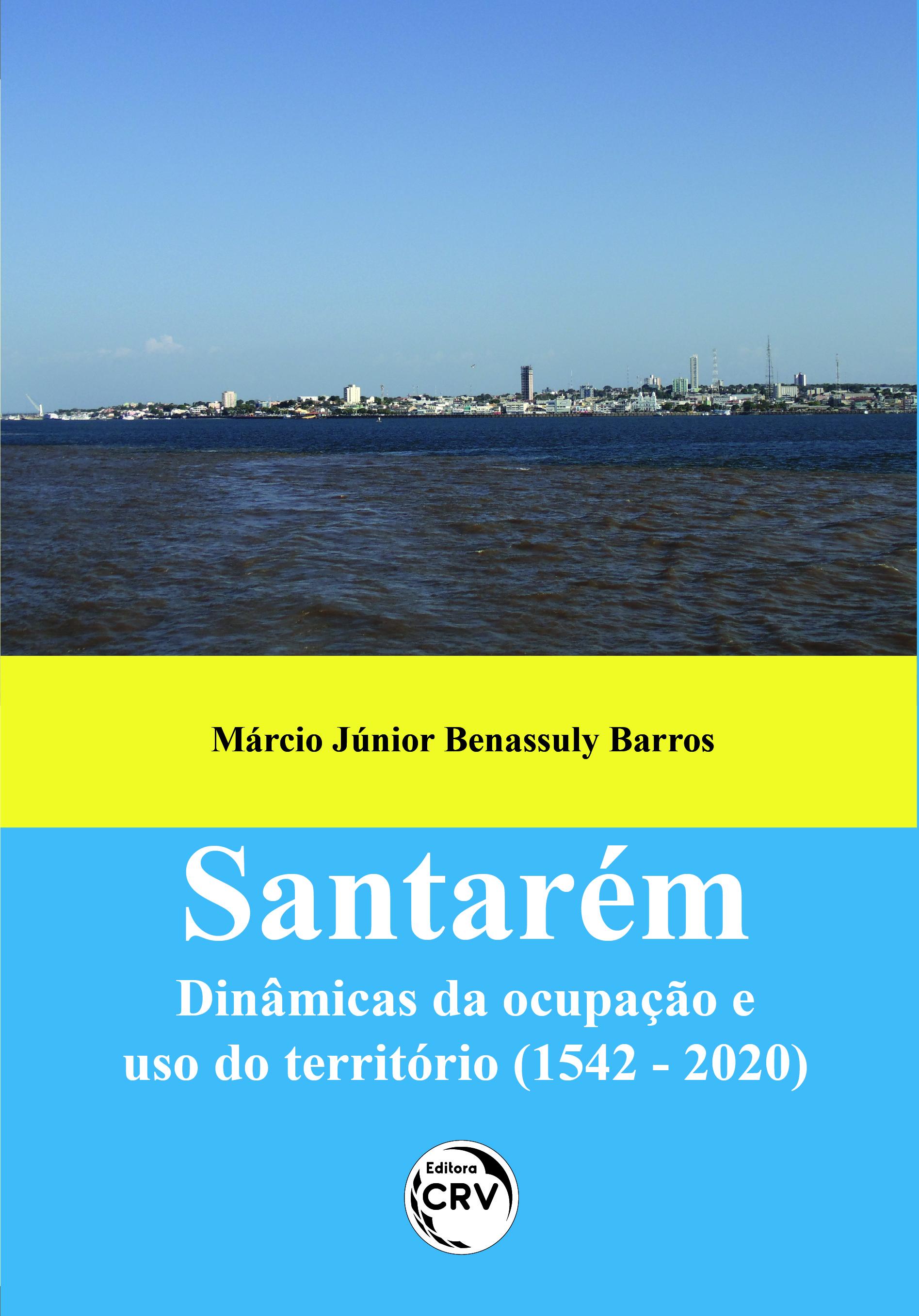 Capa do livro: SANTARÉM:<br> dinâmicas da ocupação e uso do território (1542 - 2020)