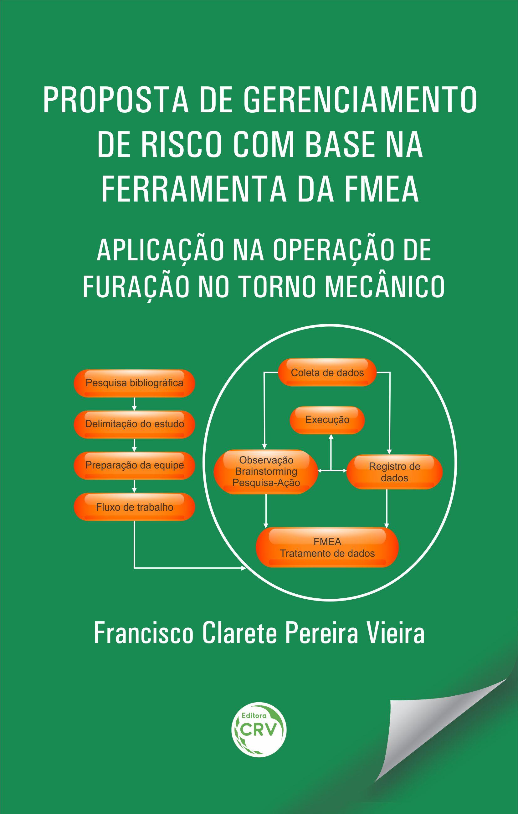 Capa do livro: PROPOSTA DE GERENCIAMENTO DE RISCO COM BASE NA FERRAMENTA DA FMEA: <br>aplicação na operação de furação no torno mecânico