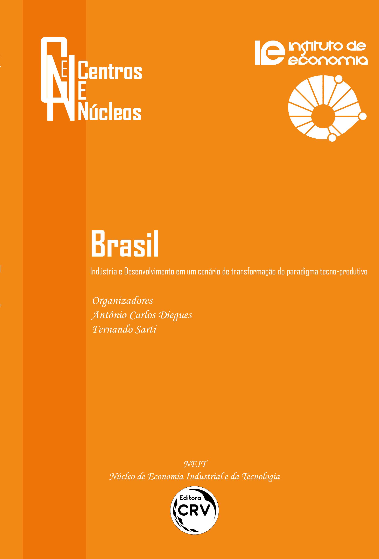 Capa do livro: BRASIL:<br> Indústria e Desenvolvimento em um cenário de transformação do paradigma tecno-produtivo<br><br> Coleção Centros e Núcleos