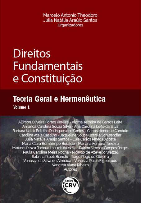 Capa do livro: DIREITOS FUNDAMENTAIS E CONSTITUIÇÃO: <br> Teoria Geral e Hermenêutica <br> Volume 1