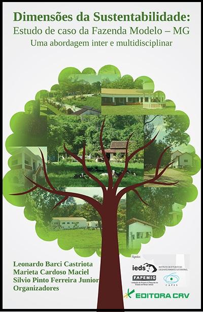 Capa do livro: DIMENSÕES DA SUSTENTABILIDADE:<br>estudo de caso da fazenda modelo - MG<br>Uma abordagem inter e multidisciplinar