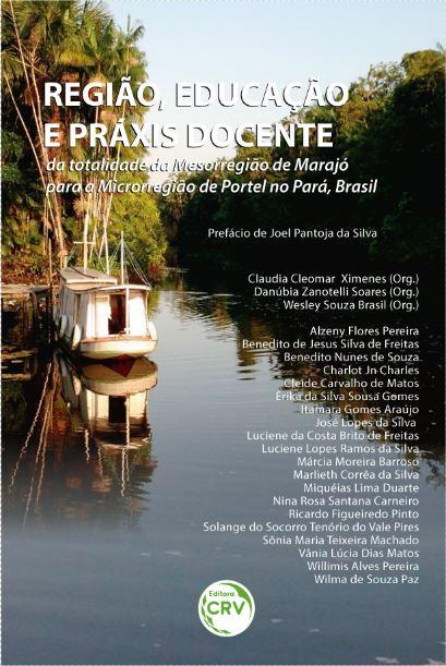 Capa do livro: REGIÃO, EDUCAÇÃO E PRÁXIS DOCENTE:<BR> da totalidade da mesorregião de Marajó para a microrregião de Portel no Pará, Brasil