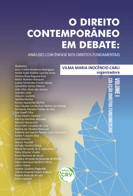 Capa do livro: O DIREITO CONTEMPORÂNEO EM DEBATE:<br>análises com ênfase nos direitos fundamentais <br>Coleção Direitos fundamentais <br>Volume I