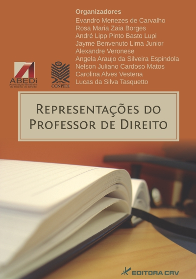 Capa do livro: REPRESENTAÇÕES DO PROFESSOR DE DIREITO