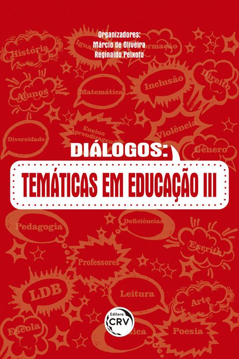 Capa do livro: DIÁLOGOS:  <br>temáticas em educação III