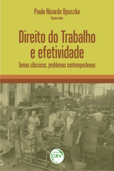 Capa do livro: DIREITO DO TRABALHO E EFETIVIDADE:<br> temas clássicos, problemas contemporâneos