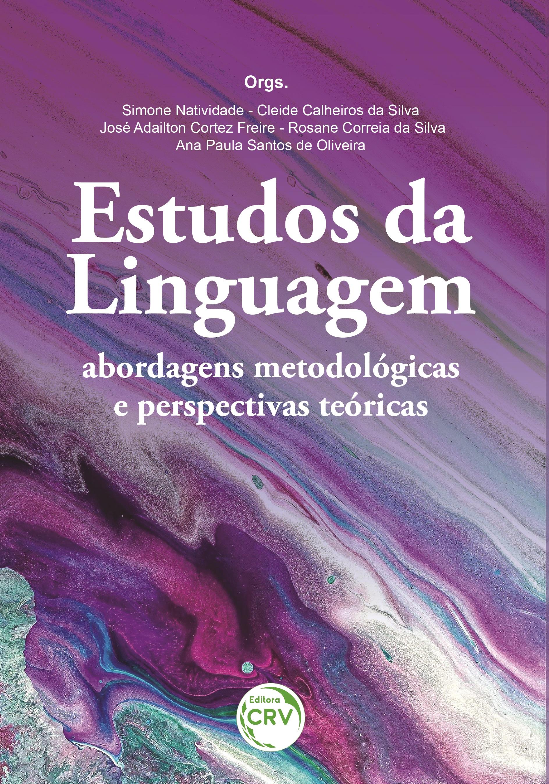 Capa do livro: ESTUDOS DA LINGUAGEM: <br> abordagens metodológicas e perspectivas teóricas