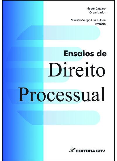 Capa do livro: ENSAIOS DE DIREITO PROCESSUAL