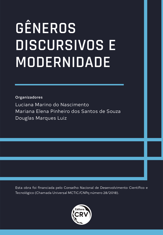 Capa do livro: GÊNEROS DISCURSIVOS E MODERNIDADE